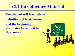 §2.1 Introductory Material