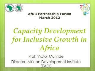 AfDB Partnership Forum March 2012