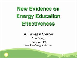 New Evidence on Energy Education Effectiveness