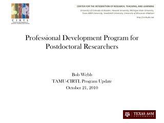 Professional Development Program for Postdoctoral Researchers