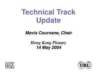 Technical Track Update