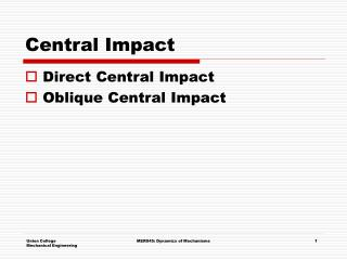 Central Impact