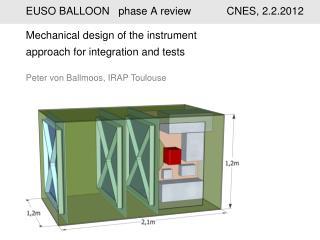 EUSO BALLOON  phase A review            CNES, 2.2.2012