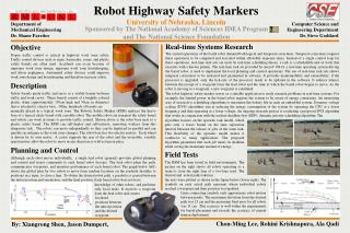 Robot Highway Safety Markers