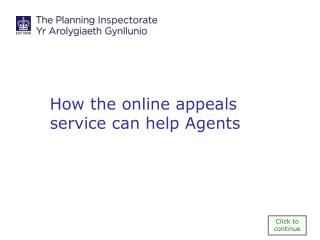 How the online appeals service can help Agents