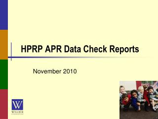 HPRP APR Data Check Reports