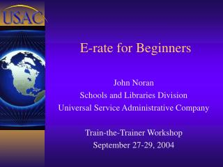 E-rate for Beginners