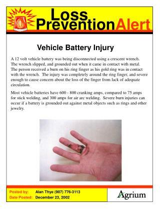 Vehicle Battery Injury