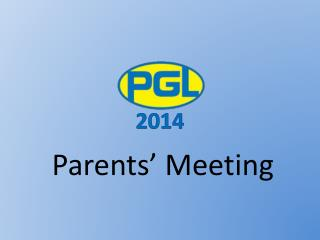 Parents�  Meeting