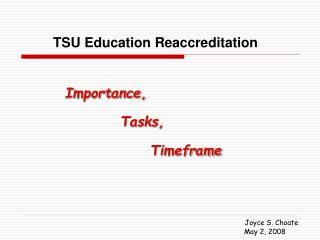 TSU Education Reaccreditation