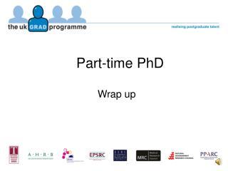 Part-time PhD