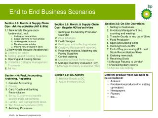 End to End Business Scenarios