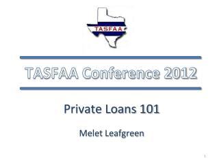 TASFAA Conference 2012