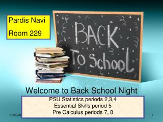 Welcome to Back School Night