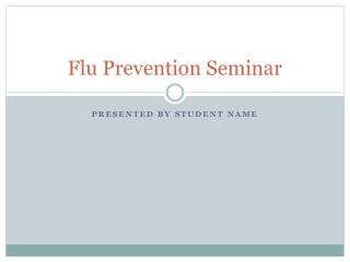 Flu Prevention Seminar