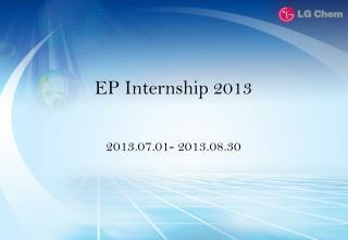 EP Internship 2013