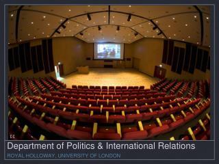Department of Politics & International Relations