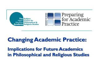 Introduction to the Subject Centre for Philosophical & Religious Studies