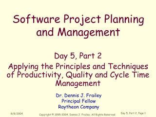 Software Project Planning and Management