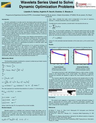 Wavelets Series Used to Solve Dynamic Optimization Problems