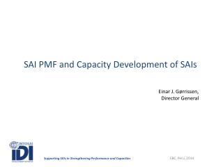 SAI PMF and  Capacity  Development of SAIs