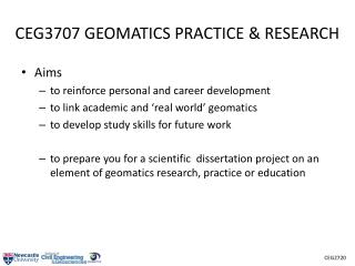CEG3707 GEOMATICS PRACTICE & RESEARCH