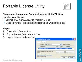 Portable License Utility