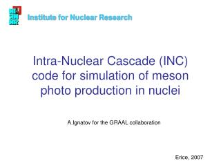 Intra-Nuclear Cascade (INC) code for simulation of meson photo production in nuclei