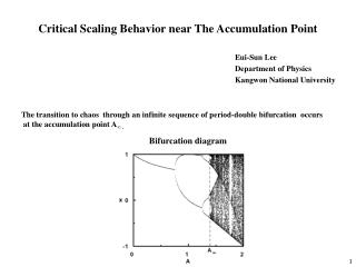Critical Scaling Behavior near The Accumulation Point