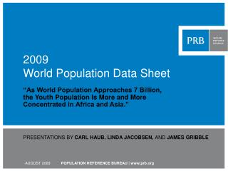 2009  World Population Data Sheet