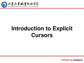 Introduction to Explicit Cursors