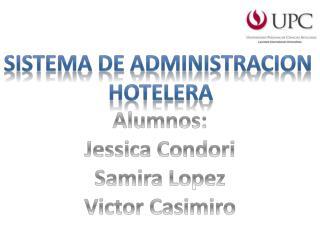 SISTEMA DE ADMINISTRACION  HOTELERA