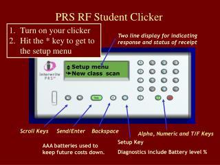 PRS RF Student Clicker