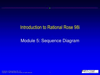 Introduction to Rational Rose 98i