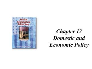 Chapter 13 Domestic and Economic Policy