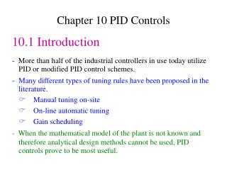 Chapter 10 PID Controls