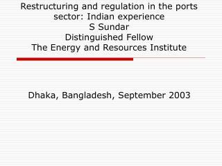 Dhaka, Bangladesh, September 2003