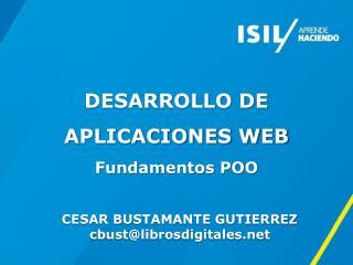 DESARROLLO DE APLICACIONES WEB Fundamentos POO
