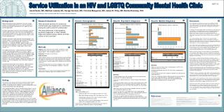 Service Utilization in an HIV and LGBTQ Community Mental Health Clinic