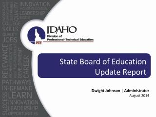 State Board of Education Update Report