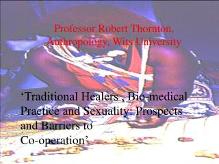 Professor Robert Thornton,  Anthropology, Wits University