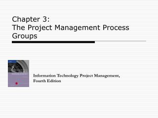 Chapter 3:  The Project Management Process Groups