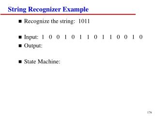 String Recognizer Example