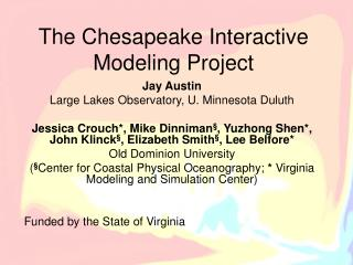 The Chesapeake Interactive Modeling Project