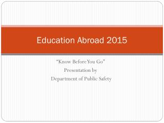 Education Abroad  2015