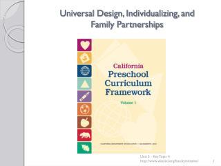 Universal Design, Individualizing, and Family Partnerships