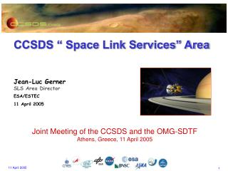 "CCSDS "" Space Link Services"" Area"