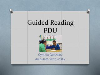 Guided Reading PDU