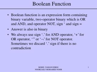 Boolean Function