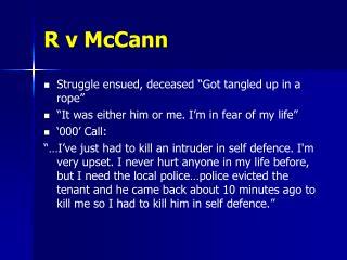 R v McCann